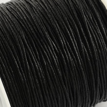 Load image into Gallery viewer, 1 x Black Waxed Cotton 5 Metre x 1mm Thong Cord