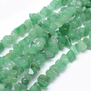 Long Strand Of 240+ Green Aventurine 5-8mm Chip Beads