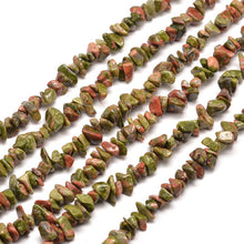 Load image into Gallery viewer, Long Strand Of 240+ Natural Unakite 5-8mm Chip Beads