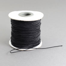 Load image into Gallery viewer, 1 x Black Elastic Cord 10 Metre x 1mm Thong Cord