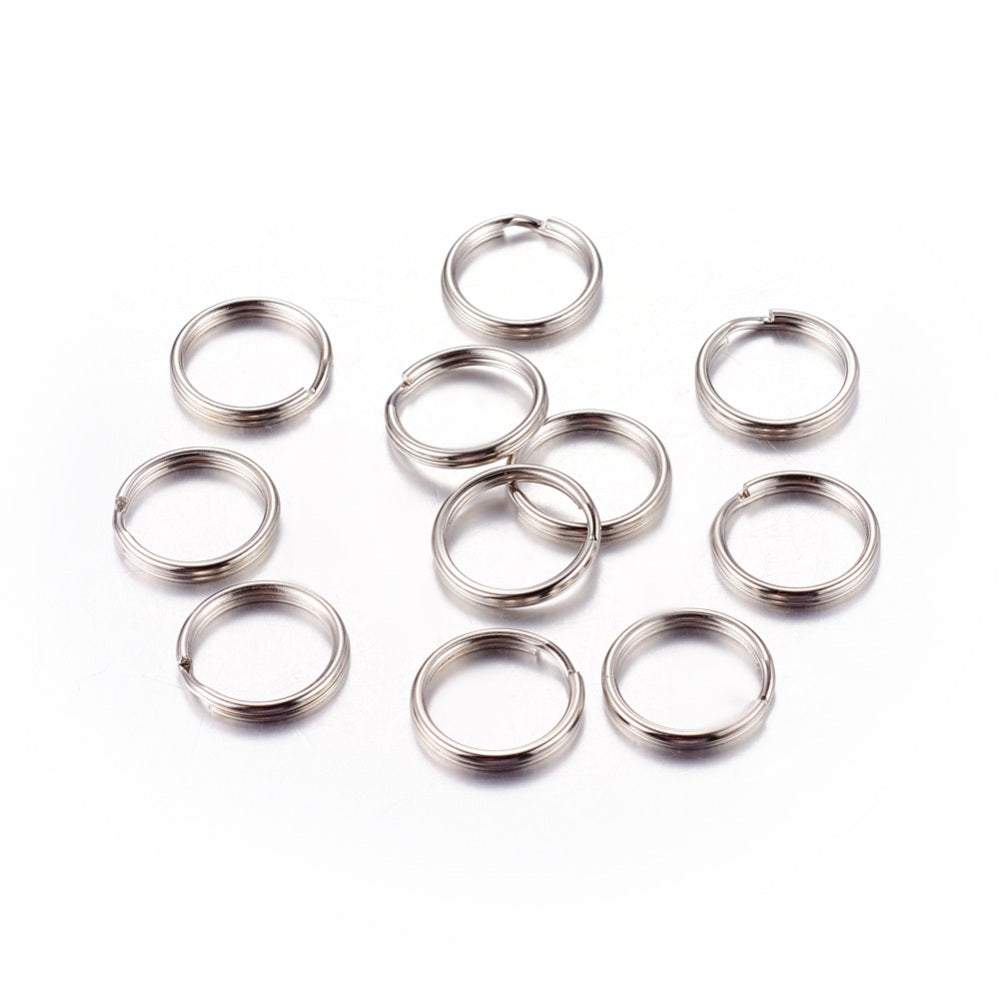 Pack of 20 Iron Split Rings, 15 x 2mm