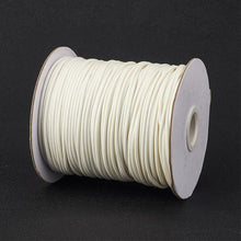 Load image into Gallery viewer, 1 x White Waxed Polyester 10 Metre x 1mm Thong Cord