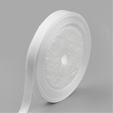 1 x White Satin Ribbon 20 Metre x 7mm Spool
