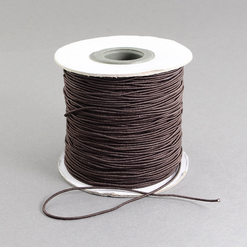 1 x Brown Elastic Cord 10 Metre x 1mm Thong Cord