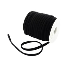 Load image into Gallery viewer, 2m x Black Habotai Stretchy Spandex 5mm Thong Cord