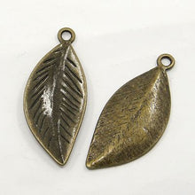 Load image into Gallery viewer, 30 Gram Tibetan Antique Bronze Random Shapes & Sizes Charms Leaf Pendants