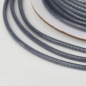 1 x Slate Gray Waxed Polyester 10 Metre x 1mm Thong Cord