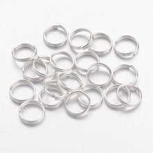Load image into Gallery viewer, Pack of 200 Iron Split Rings, 8 x 1.4mm