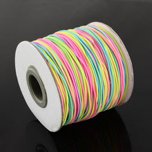 Load image into Gallery viewer, 1 x Multi Colour Rainbow Elastic Cord 10 Metre x 1mm Thong Cord