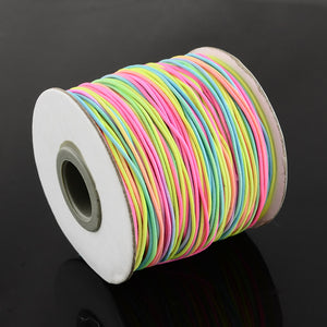 1 x Multi Colour Rainbow Elastic Cord 10 Metre x 1mm Thong Cord