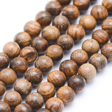 Load image into Gallery viewer, Strand of Natural Sandalwood Beads 6mm