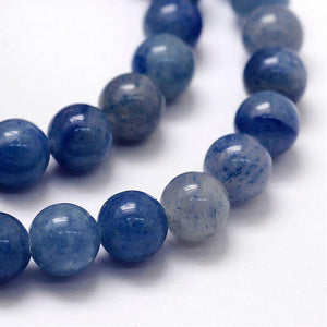 Natural Blue Aventurine Beads Loose Beads Round 8mm