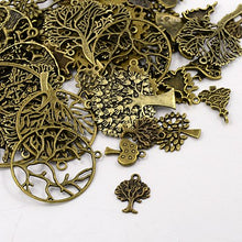 Load image into Gallery viewer, 30g x Tibetan Silver Mixed Beads Charms Pendants - Antique Bronze TREES