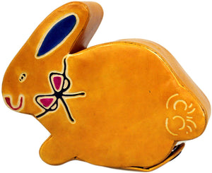 Leather Money Box - Rabbit