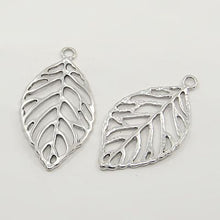 Load image into Gallery viewer, 30 Gram Tibetan Antique Silver Random Shapes & Sizes Charms Leaf Pendants