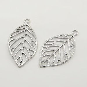30 Gram Tibetan Antique Silver Random Shapes & Sizes Charms Leaf Pendants