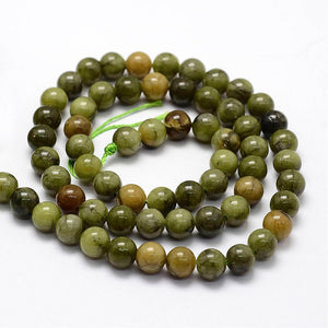 Natural Chinese Jade 6mm Loose Beads Round