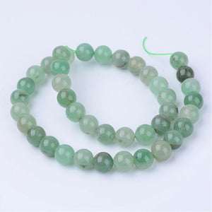 Natural Green Aventurine 8mm Loose Beads Round