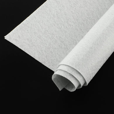 Polyester Felt Sheets Non Woven White 30x30cm Square Pack of 2