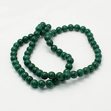 Load image into Gallery viewer, Strand of Green Mashan Jade 6mm Plain Round Beads