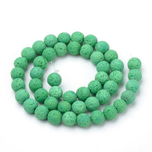 Load image into Gallery viewer, Natural Light Green Lava Beads Loose Beads Round 6mm