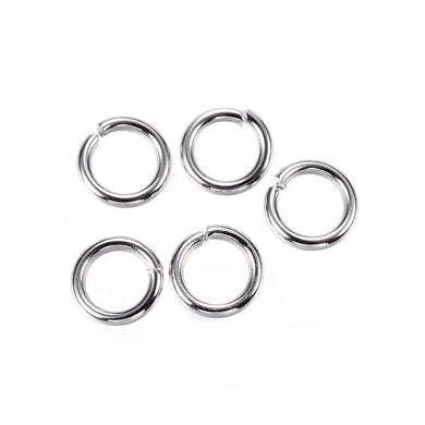 304 Stainless Steel  6 x 1mm Open Unsoldered Jump Rings Pack Of 110