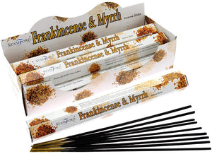 STAMFORD INC. 37112 Frankincense and Myrrh Incense Sticks, 20 Sticks x 6 Packs