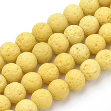 Load image into Gallery viewer, Natural Yellow Lava Beads Loose Beads Round 6mm