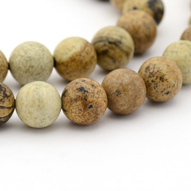 60+ Natural Picture Jasper  Loose Beads Round 6mm