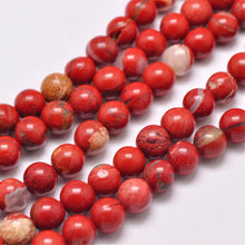 Load image into Gallery viewer, Grade AB Natural Red Jasper 6mm Loose Beads Round