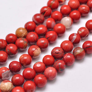 Grade AB Natural Red Jasper 6mm Loose Beads Round