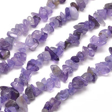 "Load image into Gallery viewer, Amethyst Agate Gemstone Chip Beads - 33"" Strand"
