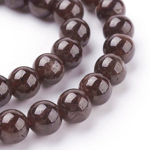Strand of 60+ Natural Garnet Beads 6mm Round Beads