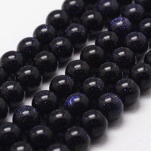 Load image into Gallery viewer, Strand 45+ Blue Goldstone Loose Beads 8mm Round