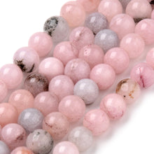 Load image into Gallery viewer, Strand of 40+ Natural Cherry Blossom Jasper Round Beads
