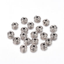 Load image into Gallery viewer, Pack of 30 Tibetan Style Alloy Flat Round Spacers 6 x 3mm