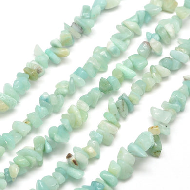Long Strand Of 240+ Natural Amazonite 5-8mm Chip Beads