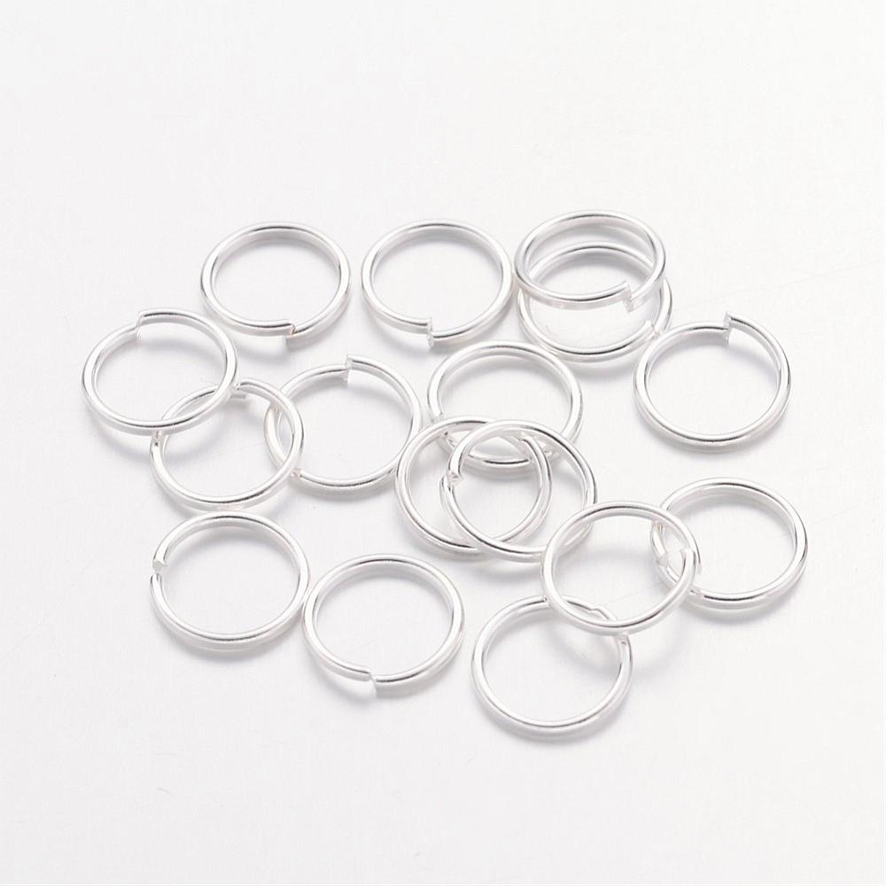 Iron 8 x 0.7mm Open Unsoldered Silver Colour Jump Rings Pack Of 110