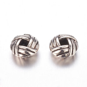 Pack of 30 Tibetan Style Alloy Flat Round Spacers 6 x 3mm