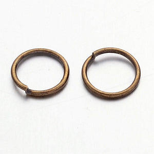 Packet of 250+ Antique Bronze Plated Iron 1 x 10mm Jump Rings