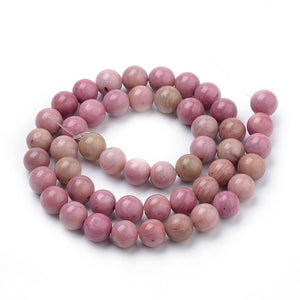 Strand of Natural 8mm Rhodochrosite Beads