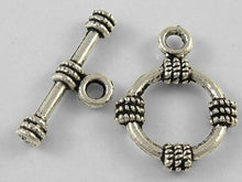 Load image into Gallery viewer, Pack of 10 Tibetan Style Antique Silver 19 x 15mm Rhombus Toggle Clasp