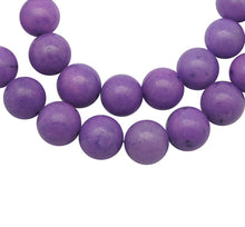 Load image into Gallery viewer, Strand of Purple Mashan Jade 6mm Plain Round Beads