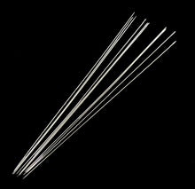 Load image into Gallery viewer, Pack of 10 Steel Beading Needles - 100 x 0.7mm