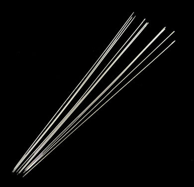 Pack of 10 Steel Beading Needles - 100 x 0.7mm