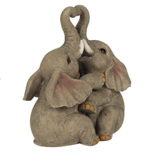 Load image into Gallery viewer, Elephant Embrace Elephant Couple Ornament