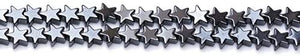 Strand Of 65+ Grey Hematite (Non Magnetic) 6mm Flat Star Beads
