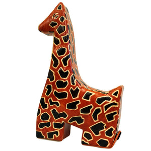 Leather Money Box - Giraffe