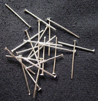 Packet Of 250 Iron Silver Plated Headpins 3.5cm long