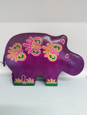 Leather Money Box - Hippo